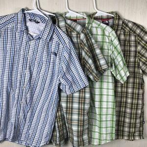 Bundle lot x4 The North Face button shirt medium